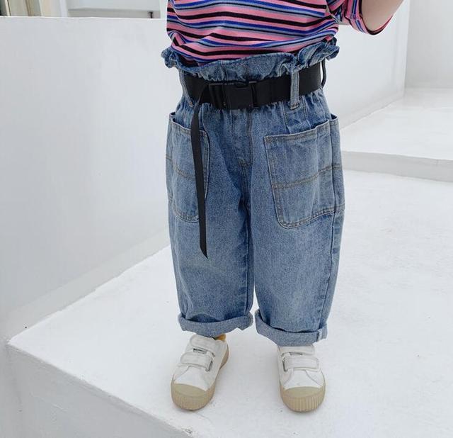 Denim Pants With Belt...