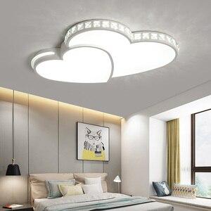 Image 2 - Kristal Modern Led tavan ışıkları oturma odası yatak odası için lamparas de techo colgante moderna avize kristal tavan lambası fikstür