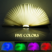 Creative Mini Flip Books Rechargeable LED Folding Book Night Light Chandelier Wall Lamp Bedside Lamp Decorative