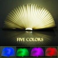 Criativo mini flip livros recarregável led dobrável livro luz da noite lustre lâmpada de parede lâmpada de cabeceira lâmpada decorativa