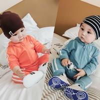 Baby Fall Clothing Sets Cotton Swearshirt Jacket Coat Pants Bodysuits Boys Girls Long Jumpsuits Fashion 1st