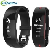 Get more info on the Hangrui P3 Heart Rate Tracker PPG ECG Smart Bracelet Blood Pressure Fitness Tracker Wristband Waterproof  Sport Watch Wrist band