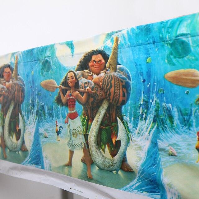 Disney Moana Descartável Toalhas de Mesa Da Festa De Aniversário Crianças fonte do partido Do chuveiro Do Bebê decoração Cobertura para meninos das meninas