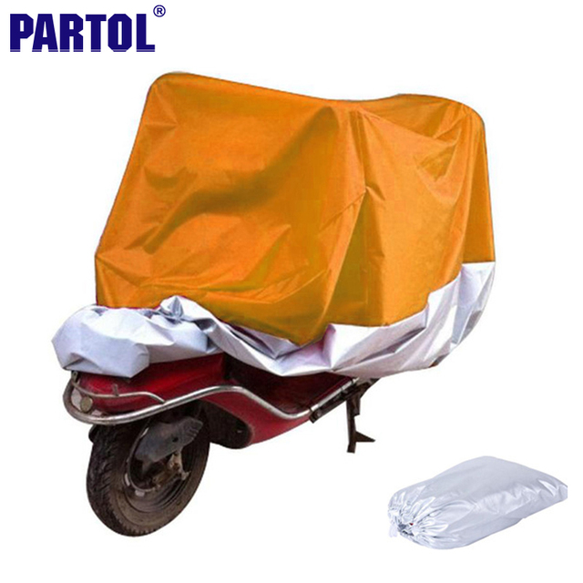 Partol L XXL XXXL Motorcycle Cover Waterproof Dustproof Scooter Cover Sportster Touring Bike Cruiser For Harley Suzuki Honda