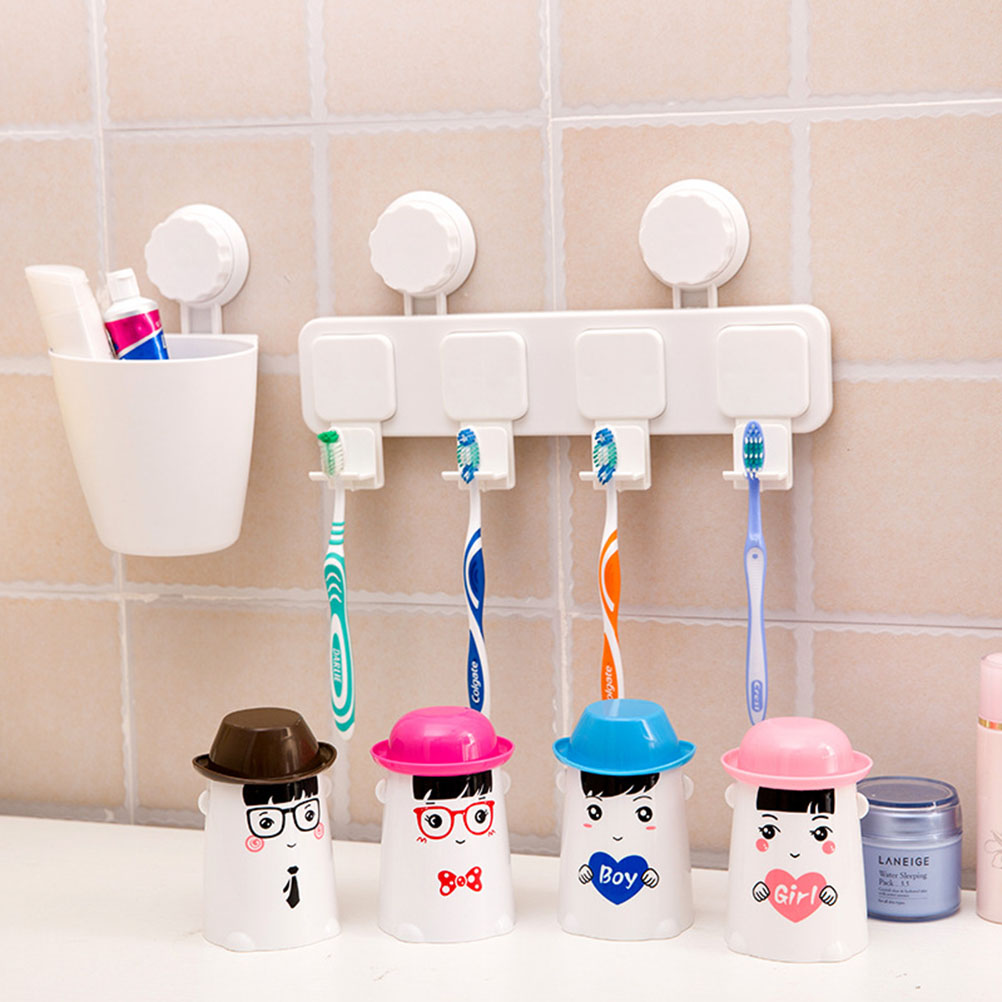 bath design tool promotion shop for promotional bath design tool 1pc cute cartoon penguin design plastic toothpaste storage rack organizer home bath bathroom tools free shipping