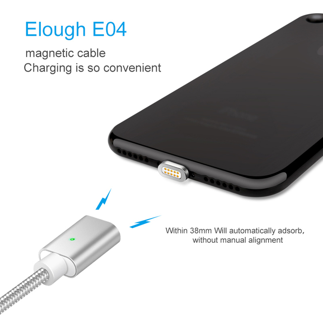 Magnetic Cable For iPhone Fast Charging USB Cable