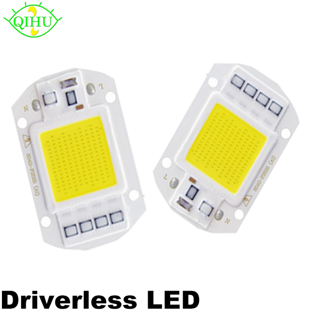 20W 30W 50W AC 220V Power Supply COB Integrated lamp Chip Smart IC Driver light Source DIY LED Floodlight Spotlight Bulb