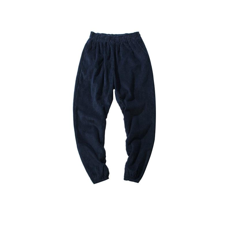 2017 new Arrive Autumn Winter Baggy Men Pants Hight Quality Corduroy Loose Haren Pants Fashion Solid Color Men Trousers