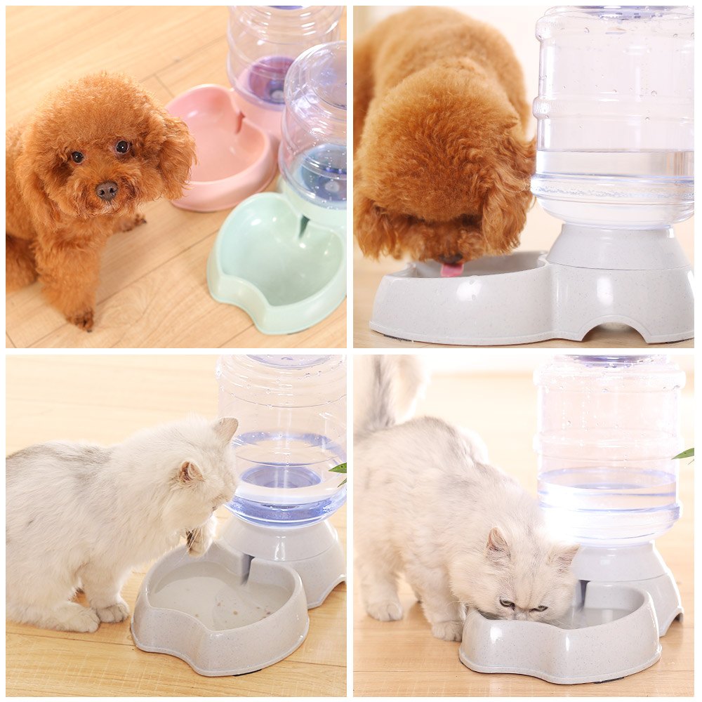 HOOPET Pet Dog Cat Three Color Waterer Water Bowl Automatic Water ...