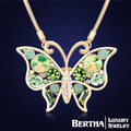 Luxury Elegant Butterfly Long Necklace Sweater Chain With Swarovski Elements Crystals Choker Collier Jewelry High Quality 2016