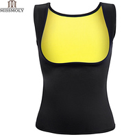 Miss Moly Hot Shapers Sauna Sweat Neoprene Body Shaper New Women Slimming Thermo Push Up Vest