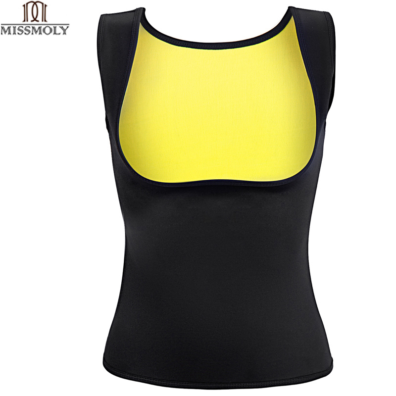 La signorina Molibdeno Hot Shapers Sauna Sudore Neoprene Body Shaper Delle Donne Che Dimagrisce Thermo Push Up Vest Vita Trainer Cincher Corsetto * USPS *