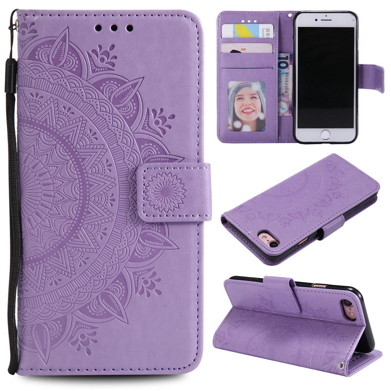 Leather Wallet case for iPhone 8Plus Case Coque iPhone X Cases iPhone6 Flip Cover for Apple