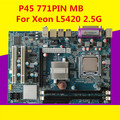 Novo para intel p45 motherboard 771 ddr3 para xeon l pacote de 5420 2.5g quad-core cpu motherboard