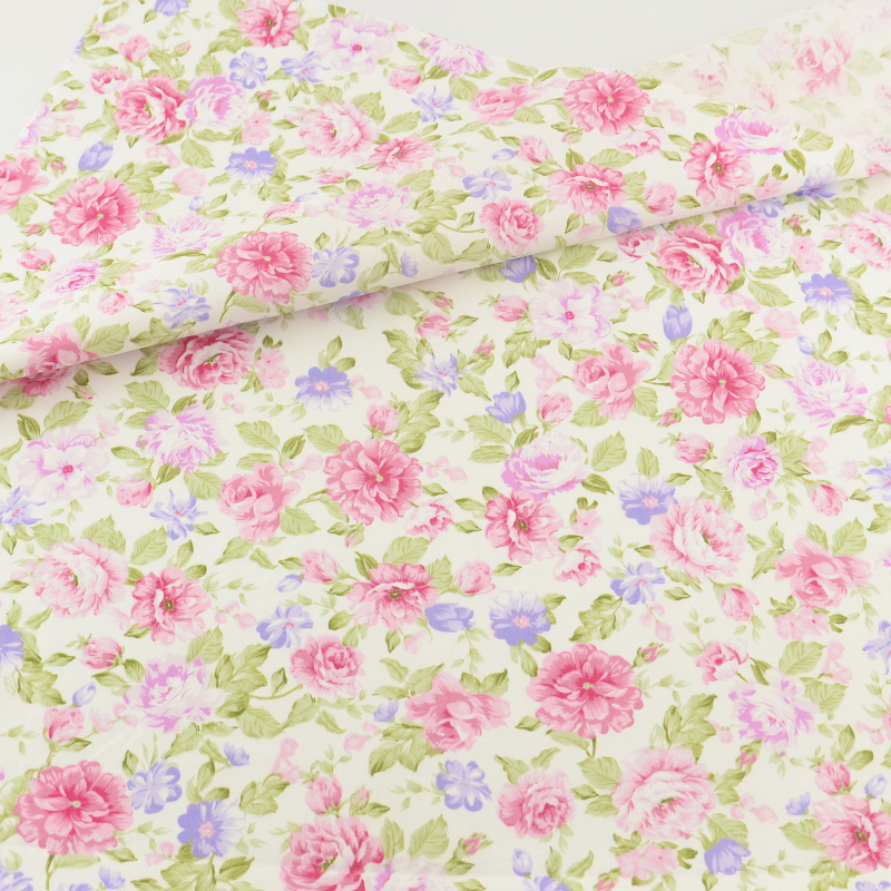 Teramila Fabrics Pink Rose Cotton Fabric Bedding Clothing Patchwork - Արվեստ, արհեստ և կարի