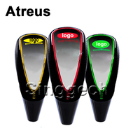 Car Styling Touch Sensor LED Lighted Colors 5 6 Speed Shift Gear Knob For Volkswagen Mercedes
