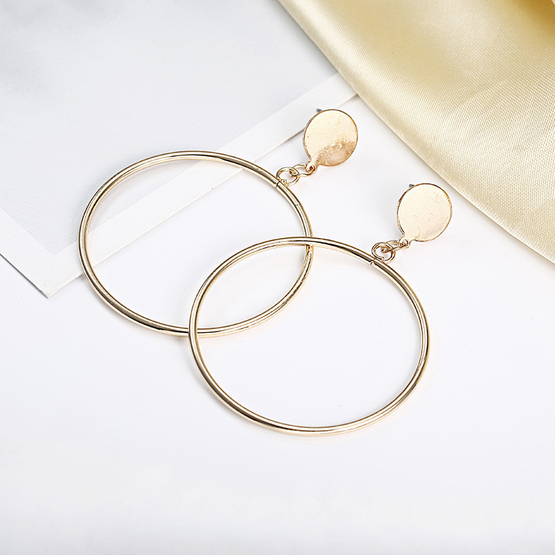 Simple Style Fashion Silver Gold Color Earrings for Women Square Round Geometric Hanging Earrings 18 Female Pendientes Jewelry 23