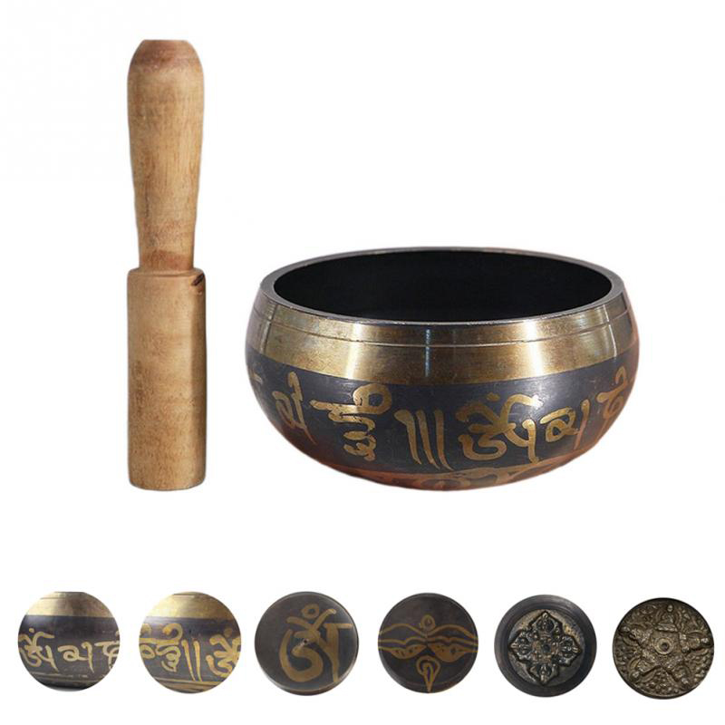 Copper Buddhism Alms Bowl Yoga Tibetan Meditation Sound  Accessory Bowl Buddhism Therapy Chakra Singing Bowl Decor Craft
