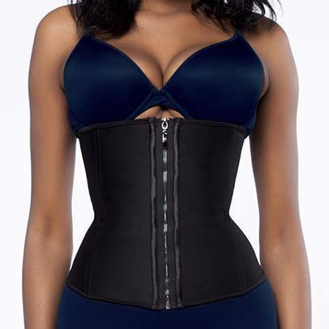 fdc1d7c576 Female Cinta Modeladora Zip Up Clip Slimming Waist Trainer Corset Women Tummy  Control Body Shaper Weight Loss Girdle Shapewear