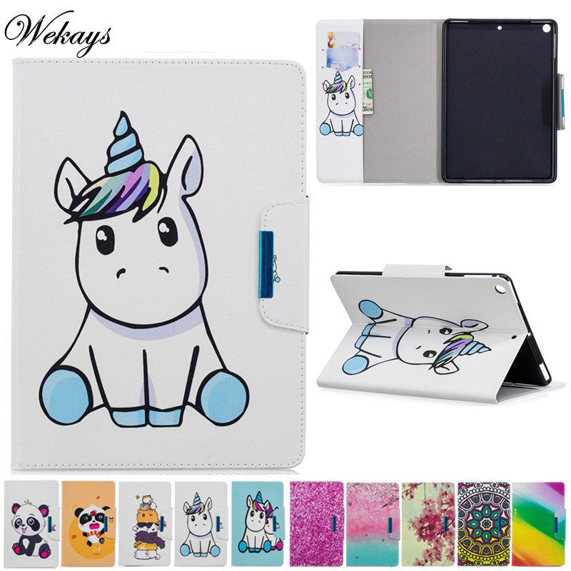 Wekays For Coque Apple New Ipad 9.7 2018 Cartoon Unicorn Leather Fundas Case For IPad 9.7 inch 2017 A1822 A1823 Cover Case ShellWekays For Coque Apple New Ipad 9.7 2018 Cartoon Unicorn Leather Fundas Case For IPad 9.7 inch 2017 A1822 A1823 Cover Case Shell