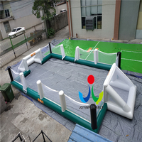 2018 Russia World Cup Inflatable Soccer Field For Kids and Adults, 12X6M Inflatable Football Filed Games For Sale