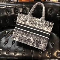 41X31X17CM Luxury Brand Tiger Print Women Designer Bags Totes High Quality Floral Women Handbags Female Logo Shopping Bag