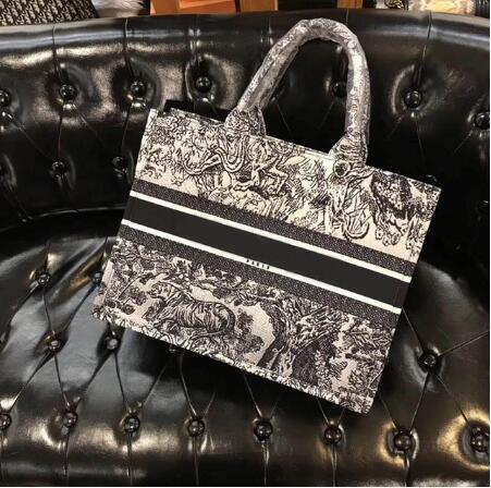 41X31X17CM marque de luxe impression tigre femmes Designer sacs fourre-tout de haute qualité Floral femmes sacs à main femme Logo sac à provisions