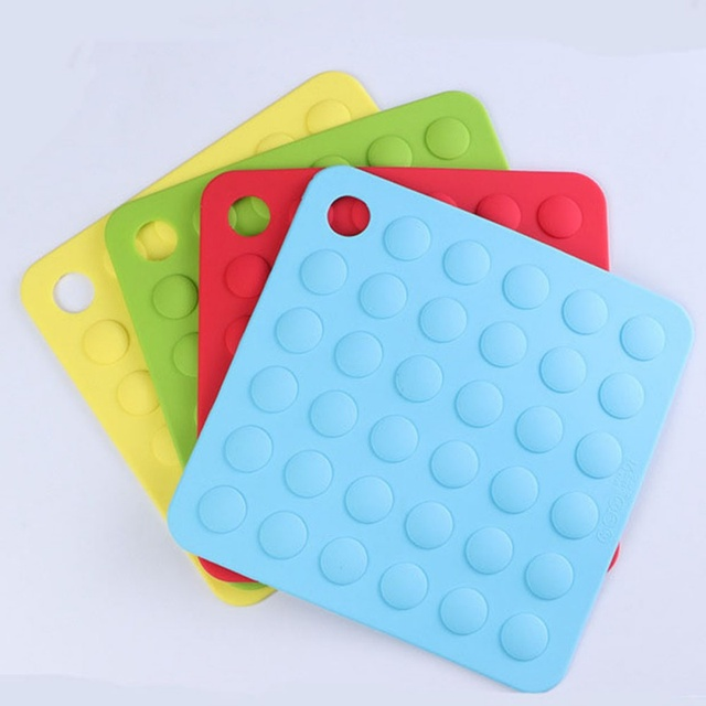 Non Slip Silicone Tableware Mat Heat Resistant Waterproof Pads Dining Table Mats 8 Colors Protect