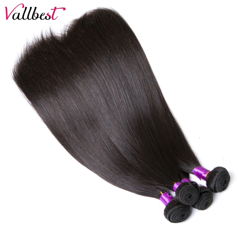 Vallbest Peruvian Straight Hair Weave 3 Bundles Human Hair Extensions Natural Black 1B 3 pieces/300g/lot Smooth Remy Hair Weft