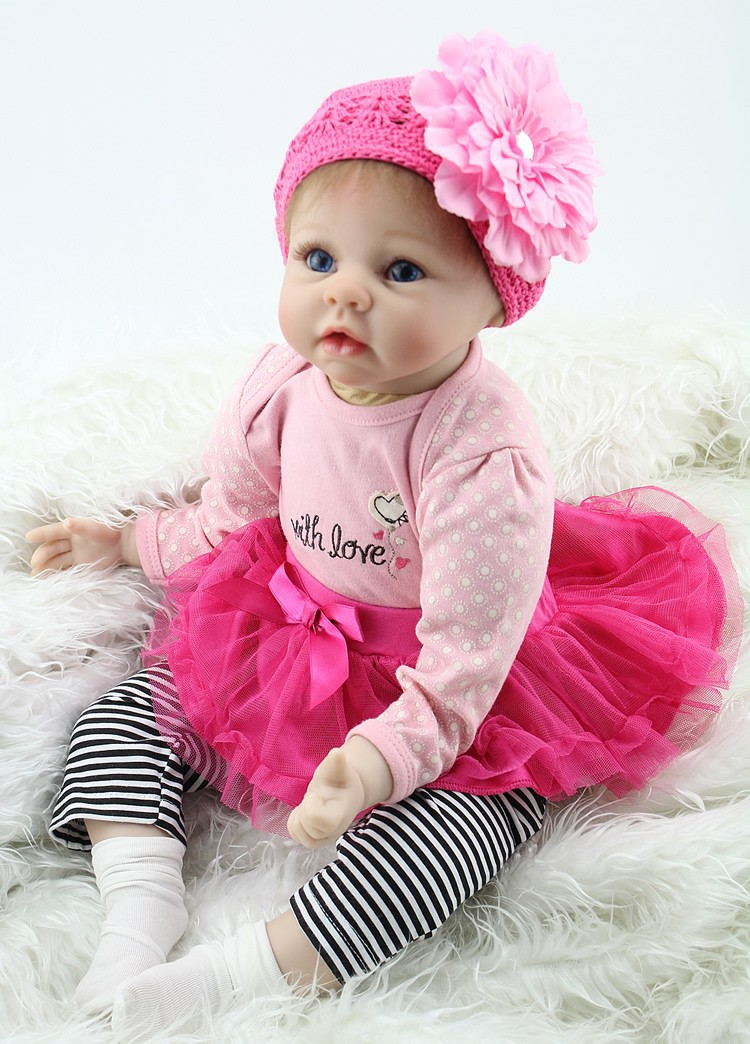 NPKCOLLECTION new hot sale lifelike reborn baby doll wholesale baby dolls Christmas gift for girl baby short curl hair lifelike reborn toddler dolls with 20inch baby doll clothes hot welcome lifelike baby dolls for children as gift