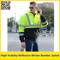 EN471 High visibility Reflective safety bomber Jacket reflective work wear winter coat free shipping
