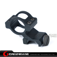 Greenbase Tactical Airsoft Offset LED Flashlight 1 Inch Ring Hunting Scope Mount Black Dark Earth