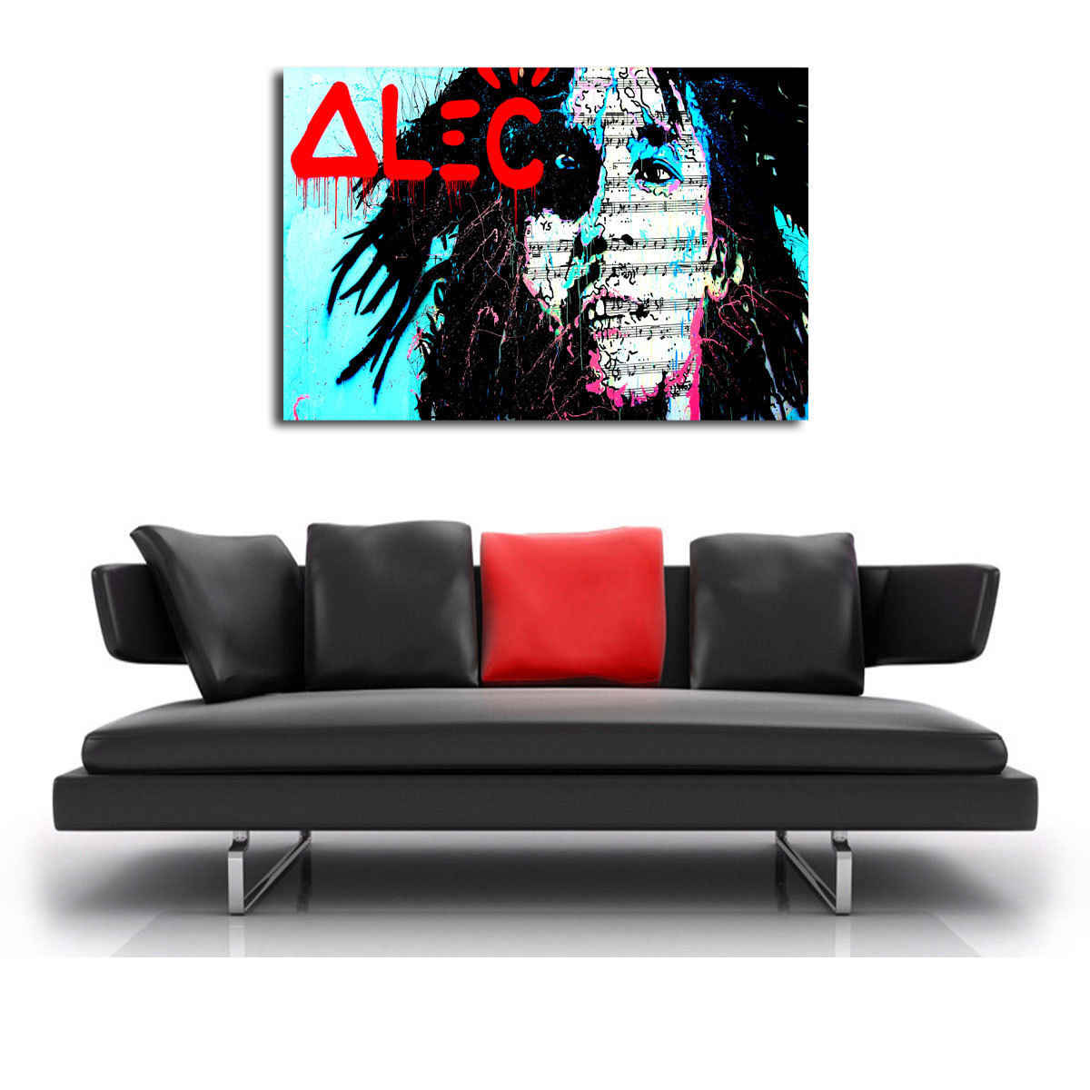Alec Monopolys Bob Marly Astratta di Arte Della Parete Della Pittura A Olio Poster Tela di Canapa Pittura Stampa Immagini per Living Room Complementi Arredo Casa