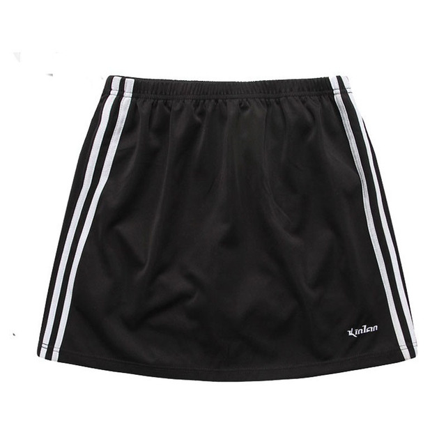 Women 2 in 1 Tennis Skirts 2017 New Style Sport Bottoms Polyester Breathable Fabric Table Tennis Skorts Badminton Skirts