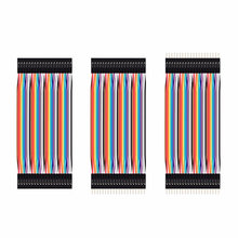 40pcs Dupont jumper wire cable 10cm male to male,female to female,male to female Dupont jump wire line 2.54mm breadboard cable