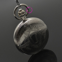 Wholesale Mechanical Pocket Watch Shield Shape Cover Retro Vintage Classic Silver Ipg Plating Copper Brass Case Good Quality