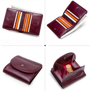 Image 4 - Маленький кошелек из натуральной кожи с отделением для карт для женщин
