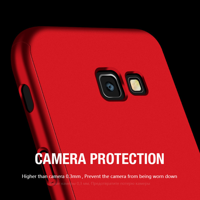 360 Full Protection Phone Case For Samsung Galaxy A7 A6 A8 J4 J6 J8 Plus 2018 Case Shockproof Cover For Samsung A5 A7 2017 Case