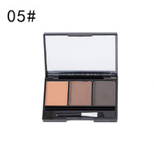 2019 Brand New Eye Shadow Eyebrow Powder Eye Brow Palette Cosmetic Makeup Shading Kit With Brush Mirror  F5.9