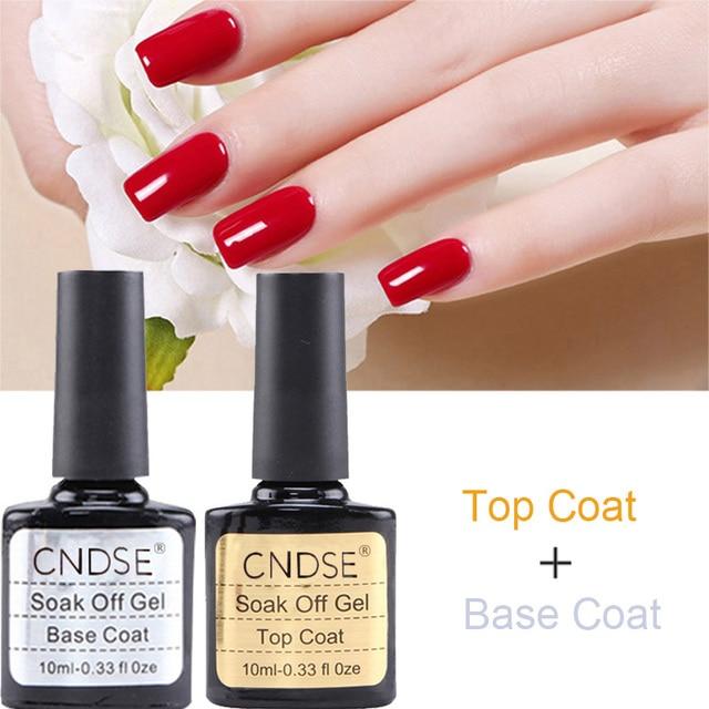 2017 New Nail Gel Polish Soak UV Top Coat + Base Coat Gel Polish ...