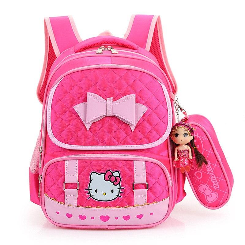 Hello Kitty Children School Bags For Girls Kids Schoolbag Cartoon Kids School Backpacks Mochila Infantil