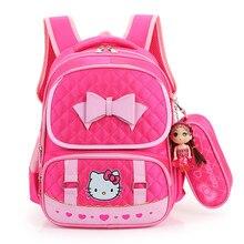 Bonjour Kitty Enfants Sacs D'école Pour Les Filles Enfants de Dessin Animé de Cartable Enfants Sacs D'école Mochila Infantil 4 couleurs