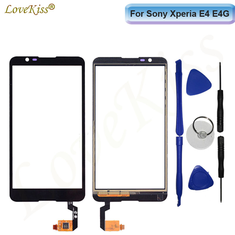 Touchscreen For Sony Xperia E4 E2014 E2015 E4g E2003 E2053 Touch Screen Sensor Front Panel LCD Display Digitizer Glass TP Repair