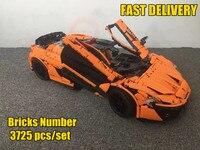 Новая техника MOC-16915 оранжевый Супер гоночный приспособление для автомобиля legoings техника город строительные блоки кирпичи игрушки модель Р...