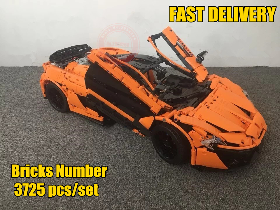 New Technic MOC-16915 Orange Super Racing Car fit legoings technic city Building Blocks Bricks Toy Model Christmas diy Gift kid цена