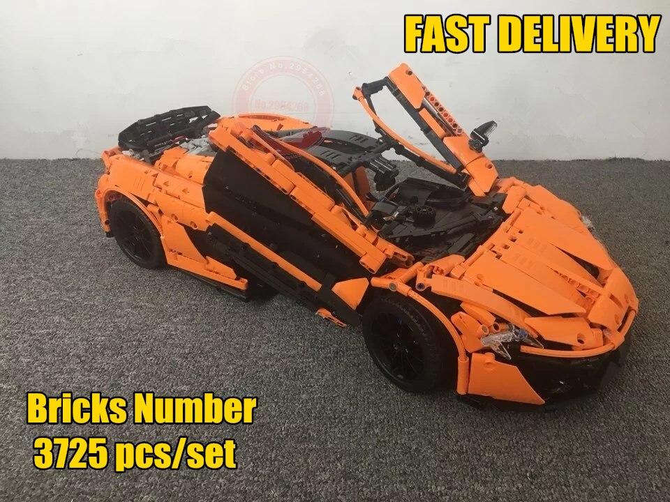 Nouvelle technique MOC-16915 Orange Super voiture de course fit legoings technique ville blocs de construction briques jouet modèle noël bricolage cadeau enfant