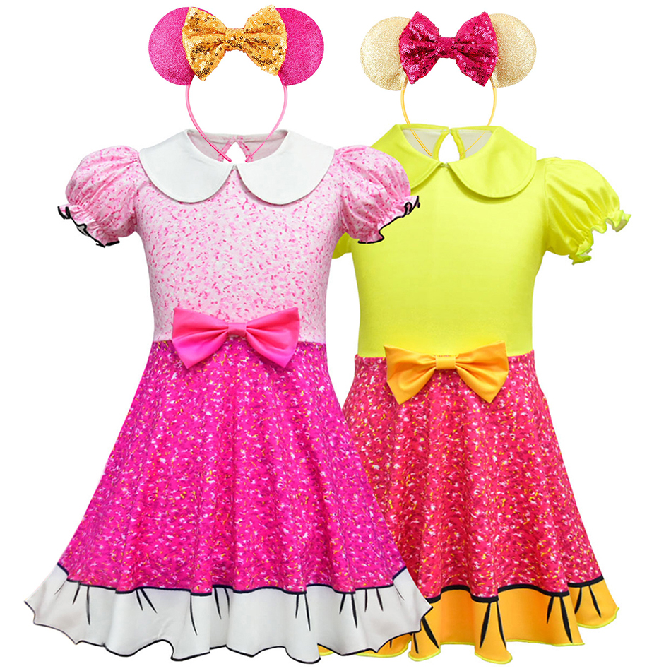 Girls LOL Dress Kids Christmas Gift Party Costume Cosplay Cartoon Tutu Dress