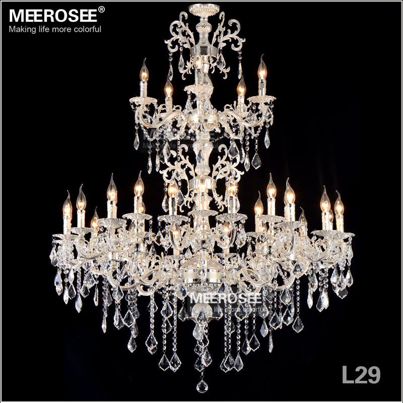 29 lights silver color crystal chandelier lamp big crystal lustre 29 lights silver color crystal chandelier lamp big crystal lustre light fixture 3 tiers 29 arms hotel villa cristal lighting in chandeliers from lights aloadofball Images