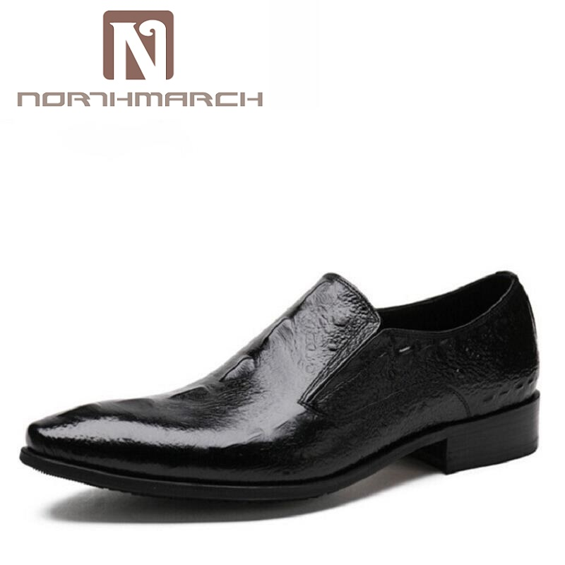 NORTHMARCH Italian Leather Crocodile Wedding Mens Dress Shoes Luxury Brand Men Loafers Genuine Leather Formal Loafers Moccasins 2017 new fashion italian designer formal mens dress shoes embossed leather luxury wedding shoes men loafers office for male