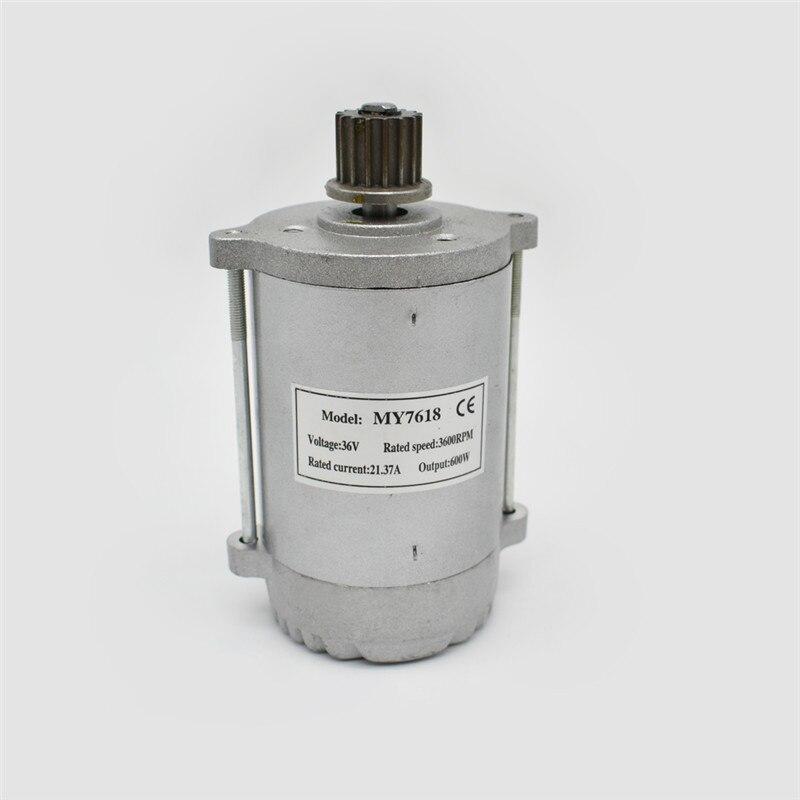 Vysokorychlostní synchronní stejnosměrný motor s koloběžkou s řemenicí nebo řetězovým kolem může být volitelný MY7618 300W24 / 36V